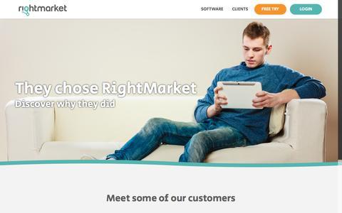 Screenshot of Case Studies Page rightmarket.com - Clients – RightMarket - captured June 14, 2017