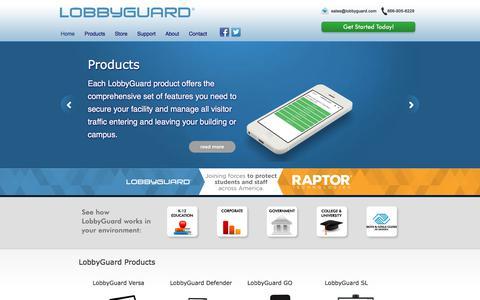 Screenshot of Home Page lobbyguard.com - LobbyGuard Visitor Management System & Software | Visitor Security, School Security, Kiosk, Web - captured July 20, 2019