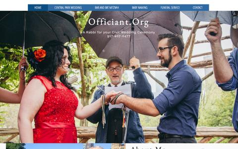 Screenshot of Home Page officiant.org - Officiant - captured Jan. 31, 2017