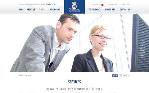 Screenshot of Services Page planbhospitality.com - Hotel Revenue Management Services - Plan B Hospitality Consulting - captured Jan. 28, 2016