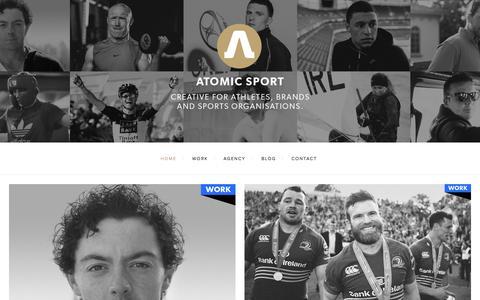 Screenshot of Home Page atomic-sport.com - Atomic Sport - captured Sept. 30, 2014