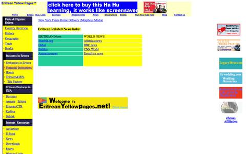Screenshot of Press Page eritreanyellowpages.net - News Eritrean yellow pages - Business Directories, Advertising Online, Website Design, Banner Ad Design, Search Engine Placement - captured Sept. 30, 2014