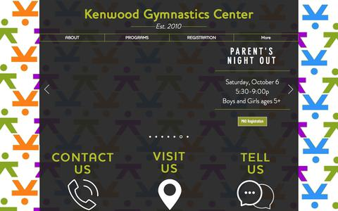 Screenshot of Contact Page kenwoodgymnasticscenter.com - kenwoodgymnastics   CONTACT - captured Sept. 20, 2018