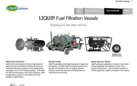 Screenshot of Products Page liquip.us - Liquip Aviation - Aircraft Refuelers - Products - captured Oct. 27, 2014
