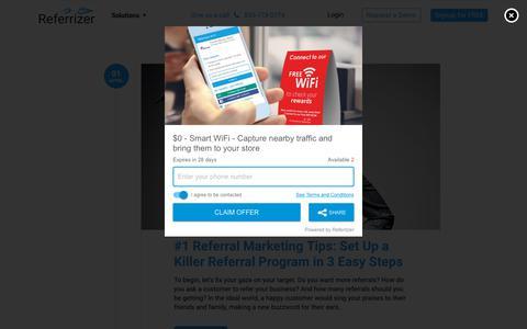 Screenshot of Blog referrizer.com - Blog – Referrizer - captured Aug. 22, 2019