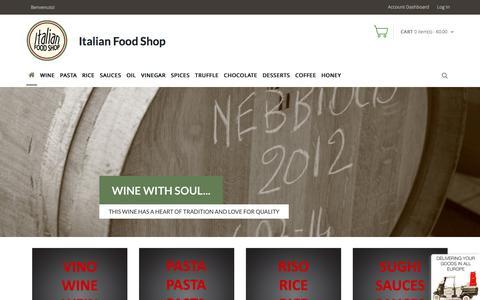 Screenshot of Home Page italian-food-shop.com - Home | Italian Food Shop | Italian Food Shop - captured Aug. 27, 2016