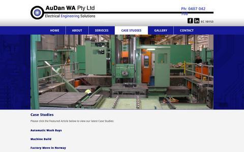 Screenshot of Case Studies Page audan.com.au - Case Studies |AuDan Electrical Engineering - captured Oct. 27, 2014