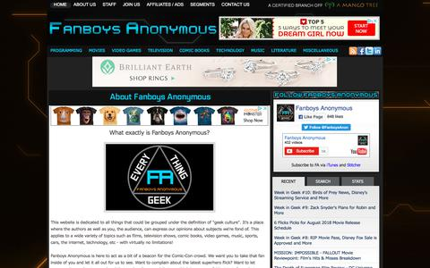 Screenshot of About Page fanboysanonymous.com - About Fanboys Anonymous | Fanboys Anonymous - captured Aug. 12, 2018