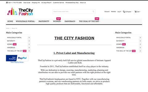 Screenshot of About Page thecityfashion.net - About Us - The City Fashion- AMJ DOT LLC - captured Feb. 28, 2016