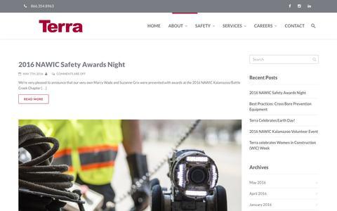 Screenshot of Press Page terracontracting.net - Terra Contracting | News - Terra Contracting - captured Nov. 30, 2016