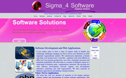 Screenshot of Services Page sigma4sw.com - We provide Software Development   Web Applications   eCommerce - captured Oct. 31, 2014
