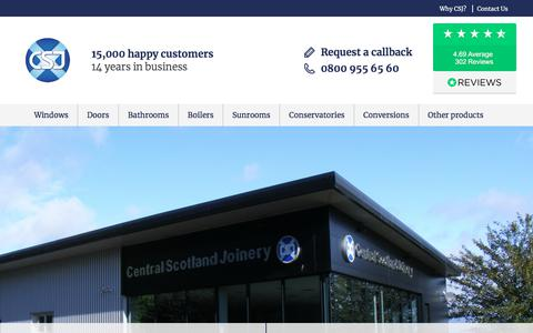 Screenshot of About Page csj.co.uk - About CSJ - Central Scotland Joinery's History - captured July 16, 2018