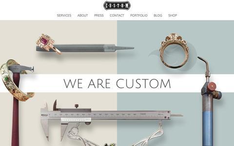 Screenshot of Home Page madebycustom.com - Home - Custom Jewelry - captured Feb. 1, 2016