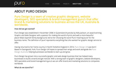 Screenshot of About Page purodesign.com.au - About Puro Design | PURO DESIGN - captured Sept. 30, 2018