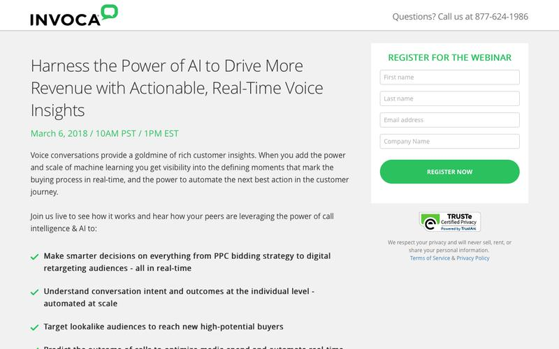 Invoca Webinar | Harness the Power of AI to Drive More Revenue with Actionable, Real-Time Voice Insights