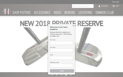 Screenshot of Home Page seemore.com - Seemore Putter Company - captured Oct. 2, 2018