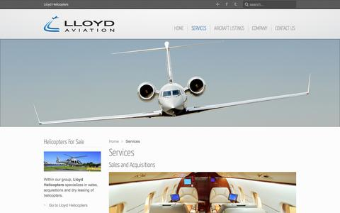 Screenshot of Services Page lloydaviation.com - Services - Lloyd Aviation - captured Sept. 30, 2014