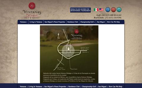 Screenshot of Maps & Directions Page ventanasdesanmiguel.net - Map   Ventanas de San Miguel - captured Nov. 4, 2014