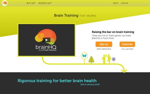Screenshot of Contact Page brainhq.com - Brain Exercises, Brain Training, Brain Health – BrainHQ from Posit Science - captured Nov. 29, 2018