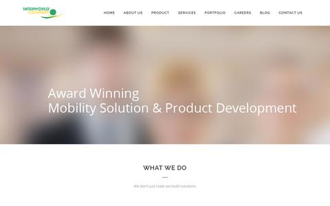 Screenshot of Home Page innovativepeople.com - Mobile App Development | Digital Marketing Solutions - captured Oct. 15, 2017