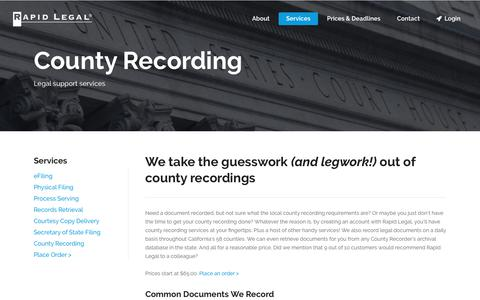 County Recording Made Easy – Rapid Legal
