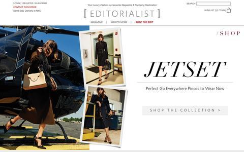Screenshot of Home Page editorialist.com - Editorialist | Luxury Fashion Accessories Magazine & Online Store - captured Feb. 1, 2016
