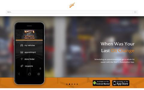 Screenshot of Home Page mattsautoservicecenter.com - Fargo-Moorhead Auto Repair | Matt's Automotive Service Center - captured Jan. 22, 2016