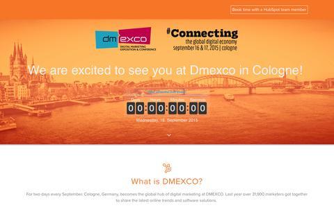 Screenshot of Landing Page hubspot.com - Dmexco Marketing Conference - captured April 20, 2017