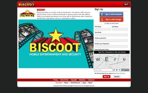 Screenshot of Signup Page biscoot.com - Biscoot - captured Aug. 22, 2016
