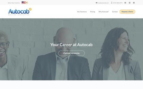 Screenshot of Jobs Page autocab.com - Careers - Autocab - USA - captured Feb. 6, 2017