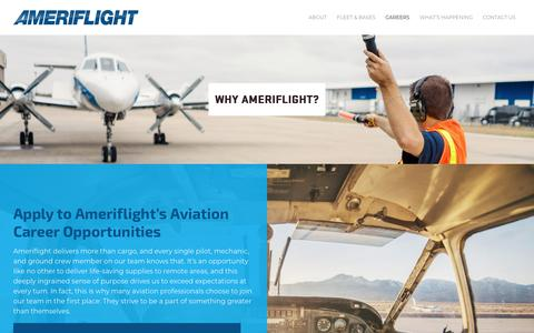Screenshot of Jobs Page ameriflight.com - Airline Cargo Careers in the United States/Puerto Rico | Ameriflight Opportunities - captured Oct. 3, 2018