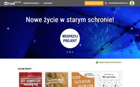 Screenshot of Home Page polakpotrafi.pl - PolakPotrafi.pl - crowdfunding, finansowanie społecznościowe - captured June 20, 2017