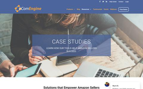 Screenshot of Case Studies Page ecomengine.com - Case Study Page - eComEngine - captured Nov. 8, 2018