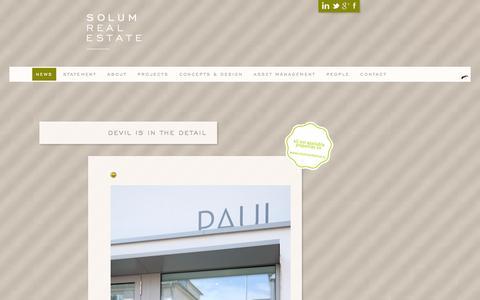Screenshot of Press Page solumre.com - news | Solum Real Estate - captured Oct. 6, 2014