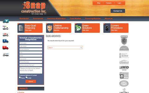 Screenshot of Jobs Page snapconstruction.com - Snap Job Postings Archive - Snap Construction inc. - captured Oct. 29, 2016