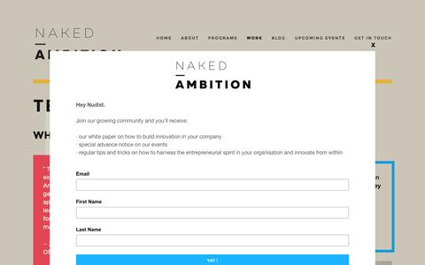 Screenshot of Testimonials Page naked-ambition.com.au - Testimonials — Naked Ambition - captured Aug. 11, 2016
