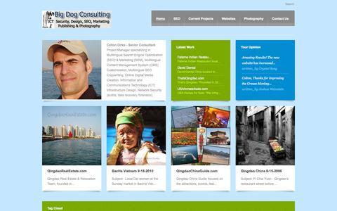 Screenshot of Home Page bigdog.info - Big Dog ICT: SEO-SEM, Digital Marketing, Social Media Branding - captured Sept. 17, 2015