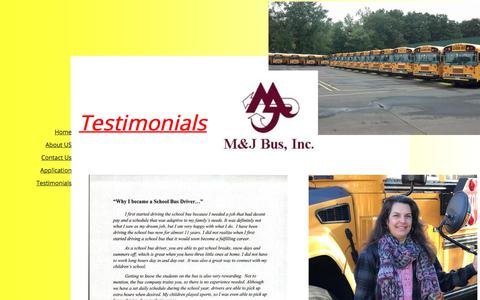 Screenshot of Testimonials Page mjbusinc.com - Testimonials - captured July 25, 2018