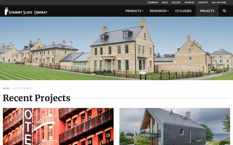 Screenshot of Case Studies Page vermontslateco.com - Recent Projects - Vermont Slate | Vermont Slate - captured Oct. 20, 2018