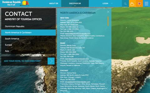 Screenshot of Contact Page godominicanrepublic.com - North America & Caribbean | Dominican Republic Has it all - captured Sept. 23, 2014