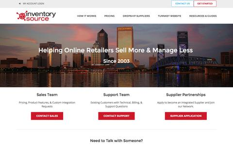 Screenshot of Contact Page inventorysource.com - Contact Inventory Source - captured Aug. 22, 2016