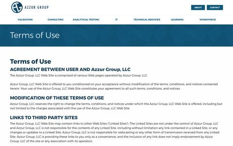 Screenshot of Terms Page azzur.com - Terms of Use | Azzur - captured Oct. 4, 2017