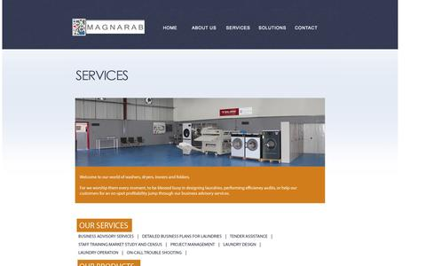 Screenshot of Services Page magnarab.com - MAGNARAB - captured Oct. 3, 2014