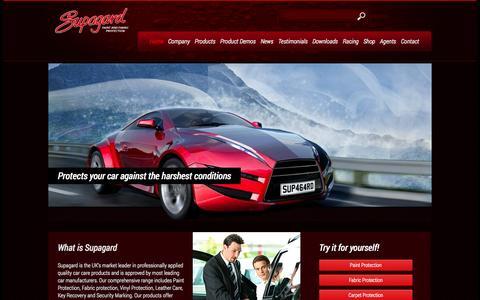 Screenshot of Home Page supagard.co.uk - Supagard | Paint and Fabric protection - captured Oct. 8, 2014