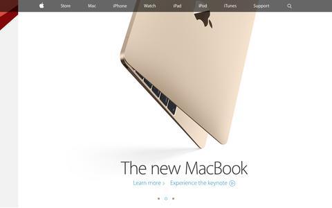 Screenshot of Home Page apple.com - Apple - captured April 7, 2015