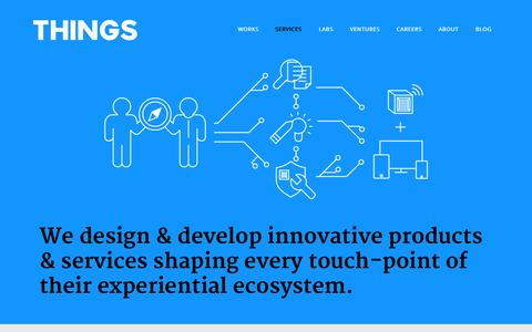 Screenshot of Services Page things.is - services - THINGS.IS - captured Aug. 4, 2015