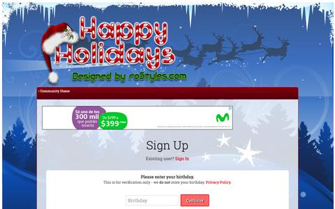 Screenshot of Signup Page rostyles.com - Registration - roStyles Design LLC - captured Dec. 21, 2018