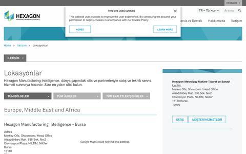 Screenshot of Locations Page hexagonmi.com - Lokasyonlar | Hexagon Manufacturing Intelligence - captured Nov. 25, 2017