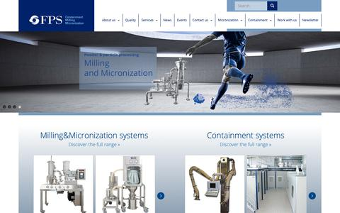 Screenshot of Home Page foodpharmasystems.com - FPS - Food Pharma Systems   - captured Oct. 2, 2018