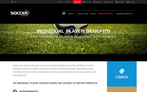 Player Benefits - Soccer Profile, Soccer Player Profiling, Performance, Skills, Analysis